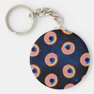 Galaxie-Krapfen-Regenbogen Schlüsselanhänger