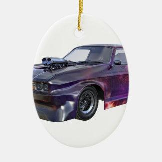 Galaxie-lila Muskel-Auto 2016 Ovales Keramik Ornament