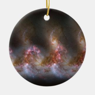 Galaxie-Nebelfleck-Druck Rundes Keramik Ornament