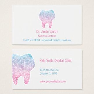 Galaxie-Polygon-Zahn-Zahnarzt-Visitenkarten Visitenkarte