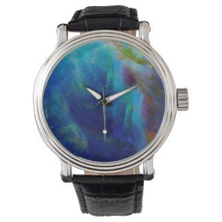 Galaxie-Raumuniversum Orions-Nebelflecks Uhr