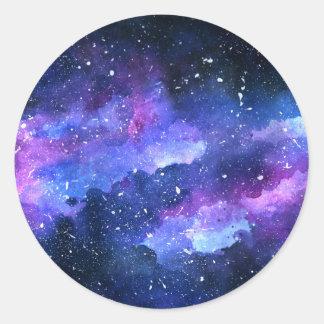 Galaxie Runder Aufkleber