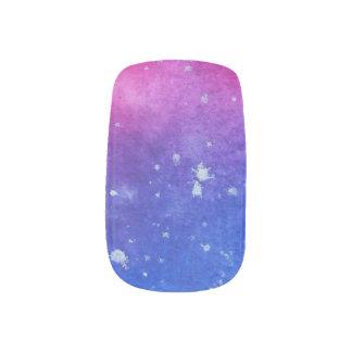 Galaxie-Wasserfarbe Minx Nagelkunst