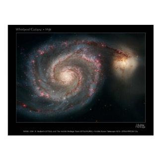 Galaxien des Strudels M51 und des Begleiters Postkarte