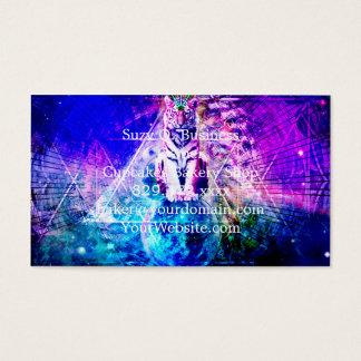 Galaxietiger - rosa Tiger - 3d Tiger - Laser-Tiger Visitenkarte