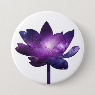 Galaxy Lotus Flower - whit Runder Button 7,6 Cm