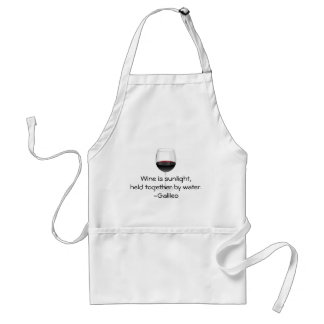 Galileo-Wein-Zitat Schürze