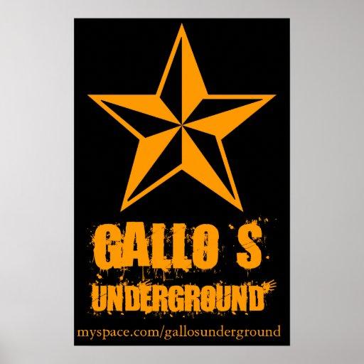Gallo Untergrund Emo Plakat