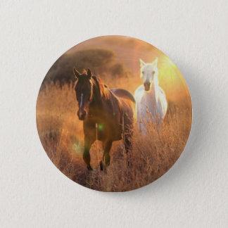 Galoppierender wilde Pferderunder Knopf Runder Button 5,1 Cm