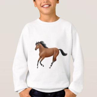 Galoppierendes Bucht-Pferd scherzt Sweatshirt