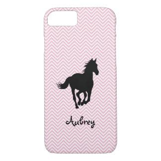 Galoppierendes Pferd auf dem Zickzack iPhone 8/7 Hülle