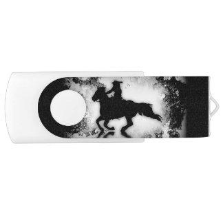 Galoppierendes Rodeo-Pferd nach westlichem Vorbild USB Stick