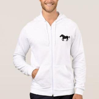 Galoppierendes schwarzes Pixel-Pferd Hoodie
