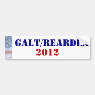 Galt/Rearden Präsident 2012 Autoaufkleber