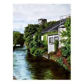 Galway-Stadt-Irland-Aquarell-Malerei Postkarte