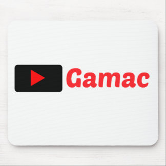 Gamac MousePad Weiß mit schwarzem und rotem Logo