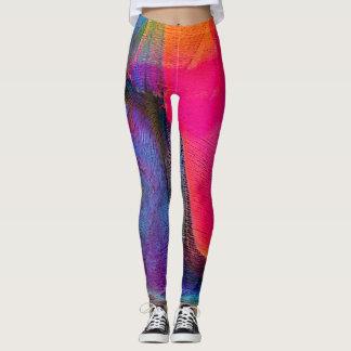 Gamaschen der verrückten Farbdie abstrakten Leggings