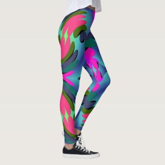 Gamaschen-Frau-Rosa/blaue/Grün/Aqua Spaß-Mode Leggings