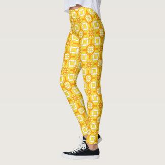 Gamaschen-geometrisches goldenes Gelb #318 Leggings