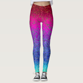 Gamaschen-Glitter-Stern-Staub Leggings