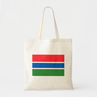 Gambia-Flagge Budget Stoffbeutel