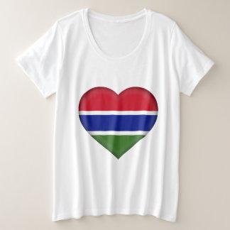 Gambia-Flagge Große Größe T-Shirt
