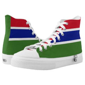 Gambia-Flagge Hoch-geschnittene Sneaker