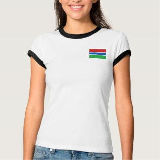Gambia-Flagge + Karten-T - Shirt