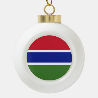 Gambia-Flagge Keramik Kugel-Ornament