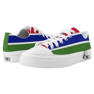 Gambia-Flagge Niedrig-geschnittene Sneaker