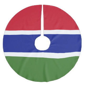 Gambia-Flagge Polyester Weihnachtsbaumdecke