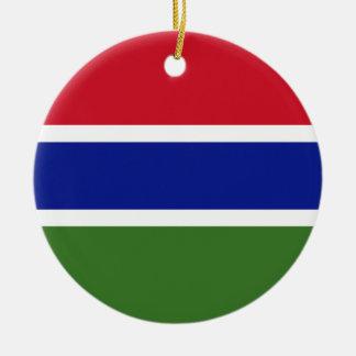 Gambia-Flagge Rundes Keramik Ornament