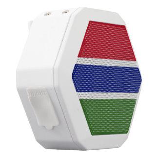 Gambia-Flagge Weiße Bluetooth Lautsprecher