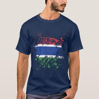 Gambia-Flaggen-Tinten-Spritzer T-Shirt