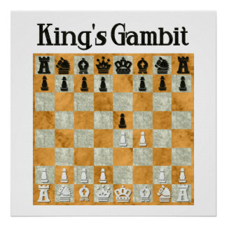 Gambit Königs Posterdruck