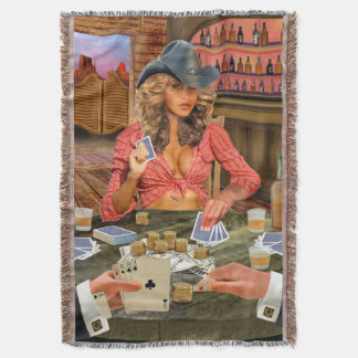 Gamblin Cowgirl Decke