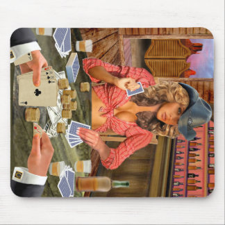 Gamblin Cowgirl Mousepad