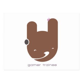 Gamer-Auszubildender Postkarten