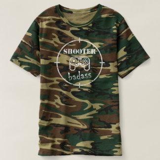Gamer Badass: Tireur-Videospiel-Militär-Shirt T-shirt