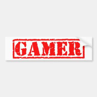 Gamer-Briefmarke Autoaufkleber
