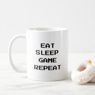 Gamer: Essen Sie, schlafen Sie, Spiel, Kaffeetasse