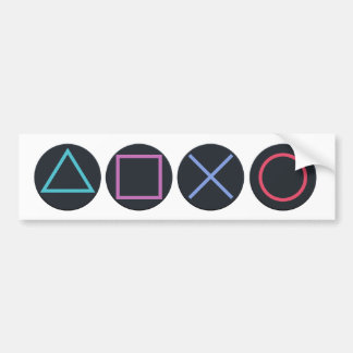 Gamer-Formen Autoaufkleber