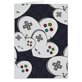 Gamer-Liebe-Prüfer-Herz Karte