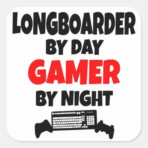 Gamer Longboarder Aufkleber