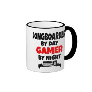 Gamer Longboarder Ringer Tasse