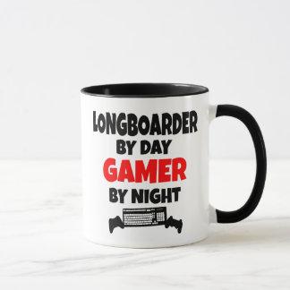 Gamer Longboarder Tasse