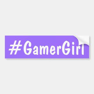 Gamer-Mädchen Autoaufkleber