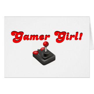 Gamer-Mädchen Grußkarten
