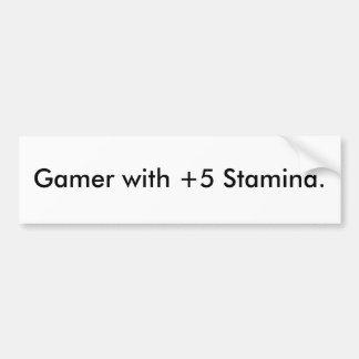 Gamer mit +Ausdauer 5 Autoaufkleber