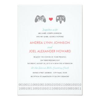 Gamer-Prüfer-Liebe Wedding 12,7 X 17,8 Cm Einladungskarte